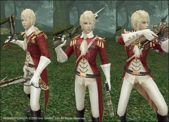 케스가 다양한 사격 스탠스를 사용한다는 것을 보여주기 위한 이미지.