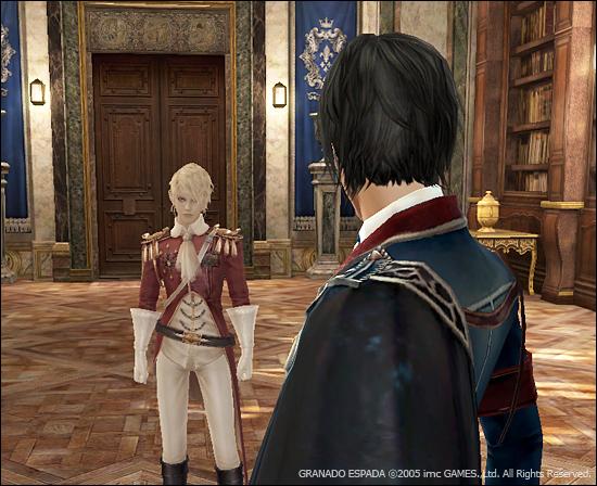 케스가 앞을 보고 건너편에 JD가 보인다. JD의 뒷통수가 보이는 이미지.