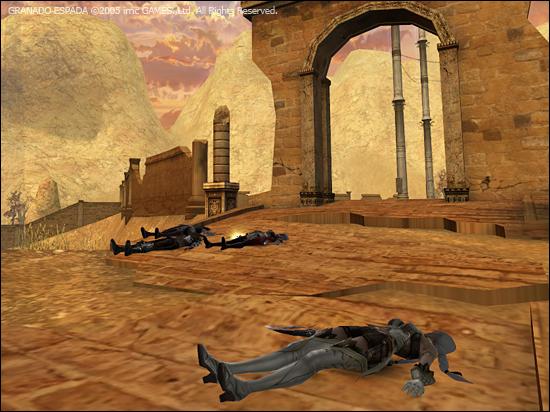 티에라 데 라시드에서 캐릭터가 죽어있다.