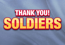 Thank you! SOLDIERS